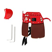 MagiDeal 2 Colors Archery Leather Finger Protector Tab Guard Glove Hunting Shooting