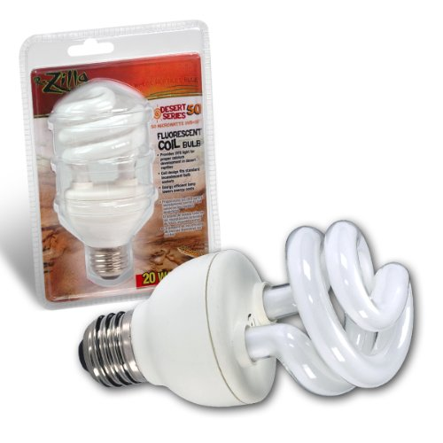 Zilla 11410 Desert 50 UVB Fluorescent Bulb, 20-Watt Coil, My Pet Supplies