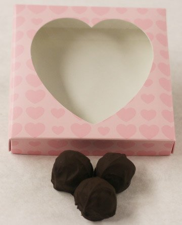 (Scott's Cakes Dark Chocolate Covered Key Lime Fruit Truffles in a 8 oz. Pink Heart Box)