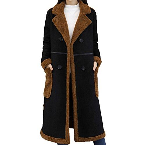 CAIXINGYIカシミヤカシミアウールコート女性の冬新しいルーズプラスベルベットロングコート暖かい厚手の綿の服