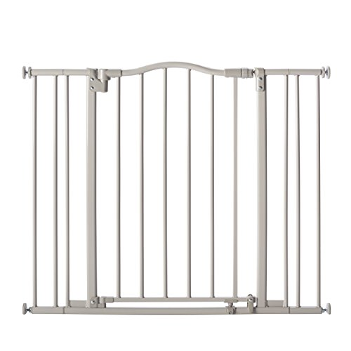 Supergate Arched Auto Close Gate, Grey, Fits Spaces Between 28.75
