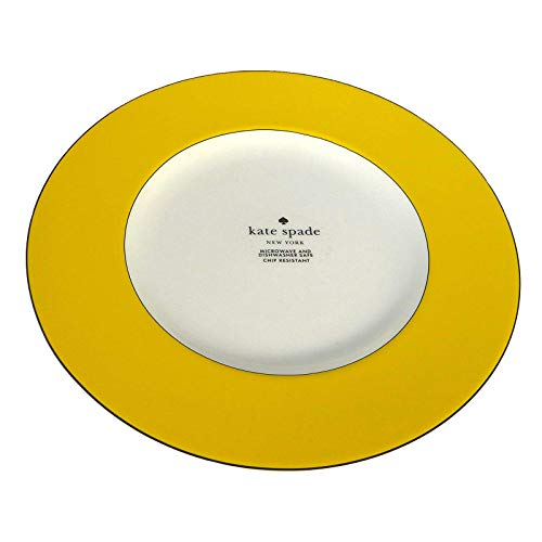 Kate Spade New York Lenox Rutherford Circle YELLOW Accent Plate 9.2 inch