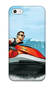 New QSlEGTX3683fecRa Grand Theft Auto V Cash Carry Skin Case Cover Shatterproof Case For Iphone 5/5s