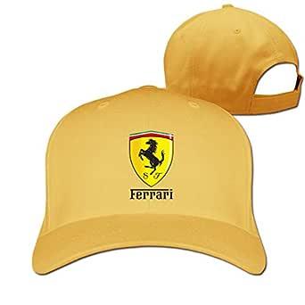 LightCa Funny Ferrari Logo Adjustable Hip Hop Hat for Unisex, Navy ...