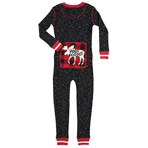 Plaid Moose Caboose Kids Flapjack Onsie Pajamas by LazyOne   Adult Kid Infant Dog Family Matching Pajamas (6)