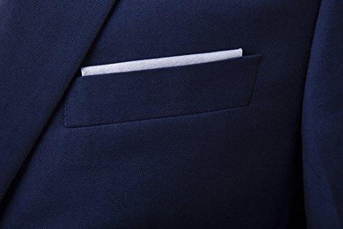 Pezzi Tuta Vestibilità In Blue Formale Gilet Giacca Slim Tre Uomo Smoking Da Cdss XfqwOBw