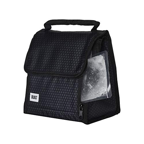 Built NY 5238349 Gel Cube Insulated Lunch Bag with Freezable Inserts 8.75-Inch Midnight Mircodot