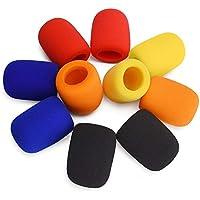 Paquete de 10 fundas coloridas para micrófono de mano para escenario de micrófono de escenario para karaoke DJ, baile de…
