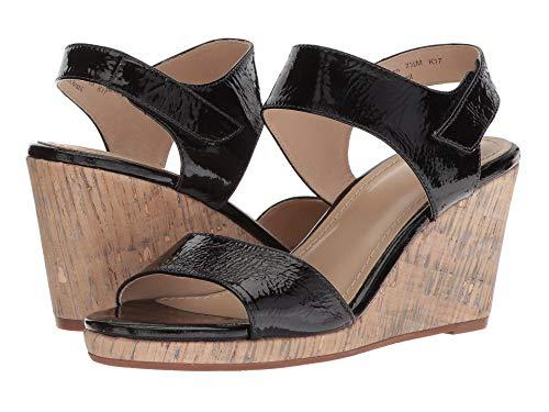 Johnston & Murphy Womens Glenna Leather Open Toe Casual, Black, Size 7.0