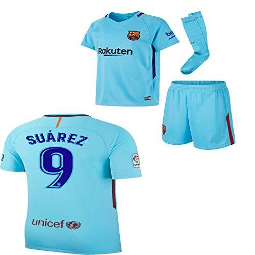 4a99f85bfd4 BARCA2018 Barcelona NB Messi Suarez Iniesta Neymar 2017 2018 17 18 Kid Youth  Replica Home Jersey Kit   Shirt