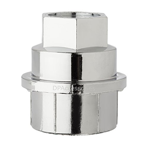 DPAccessories CC-4D-P-OCH05032 32 New Chrome Plastic Wheel Lug Nut Caps - Replaces GM 15646250 / Dorman 99956 Wheel Lug Nut Cap by DPAccessories (Image #1)