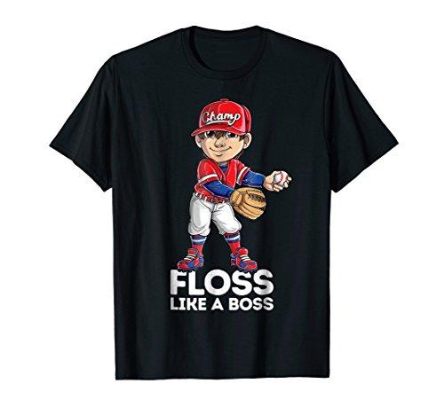 Floss Like a Boss T shirt Baseball Catcher Pitcher Flossing