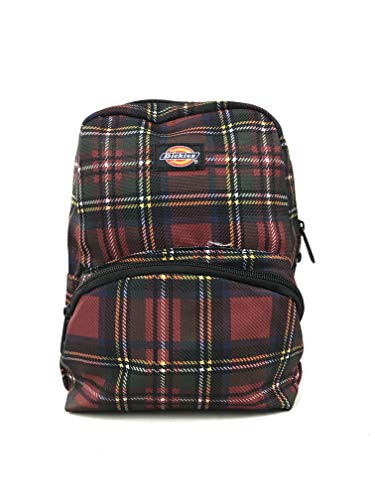 Dickies Mini Backpack (One_Size, Plaid Red/Green) ()