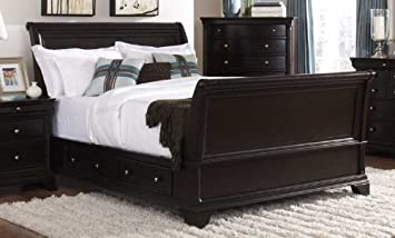inglewood sleigh bed size california king - California King Sleigh Bed Frame