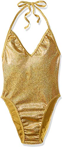 BODYZONE Women's New Years One Piece, Shattered Gold, Size