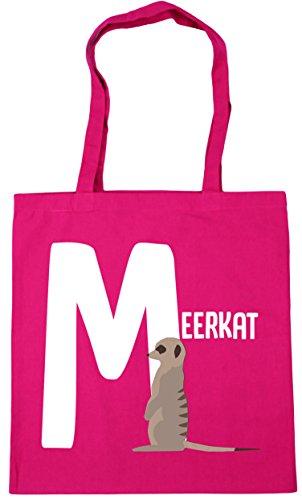 animal Beach litres Fuchsia alphabet is 42cm HippoWarehouse meerkat Shopping for 10 Tote Gym Bag M x38cm 5xzqxXn6