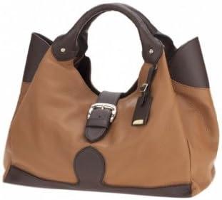 06e70883a205 Ismachseven Mercedes Handbag -Caramel brown with dark brown: Amazon ...