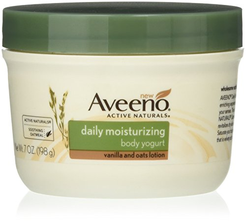Aveeno Active Naturals Daily Moisturizing Body Yogurt Moisturizer, Vanilla and Oats, 7oz, 7 Ounce