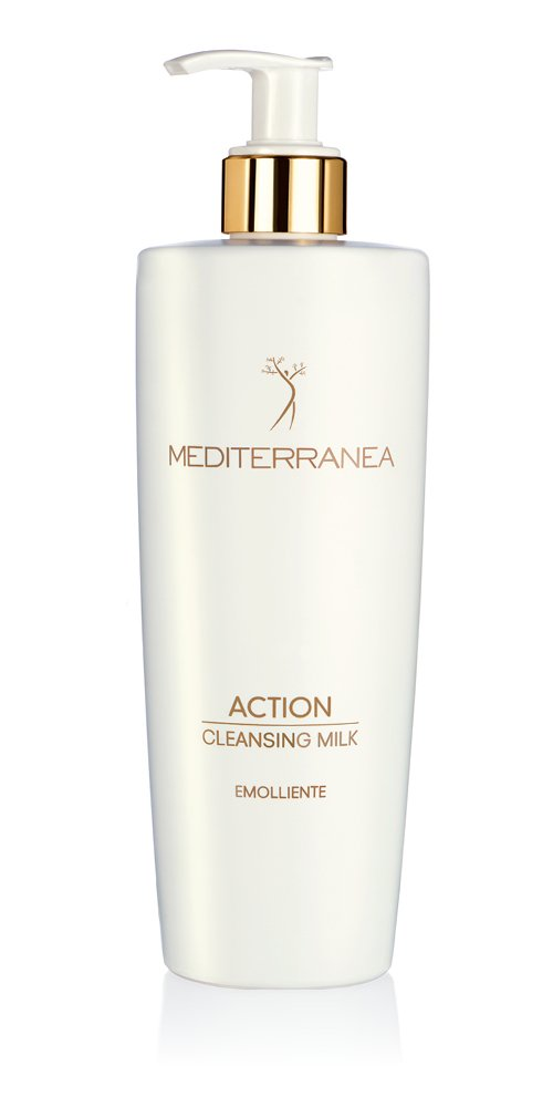 Mediterranea - Action Cleansing Milk - Latte Detergente Emolliente - Latte Viso per Donna per Pelle Morbida e Luminosa - Elimina le Impurità per una Pelle Idratata e Vellutata - 400 ml 8A02