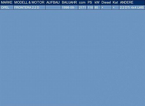 ETS-EXHAUST 52798 Silencieux interm/édiaire le kit dassemblage complet pour FRONTERA 2.2 D 116hp 1998-