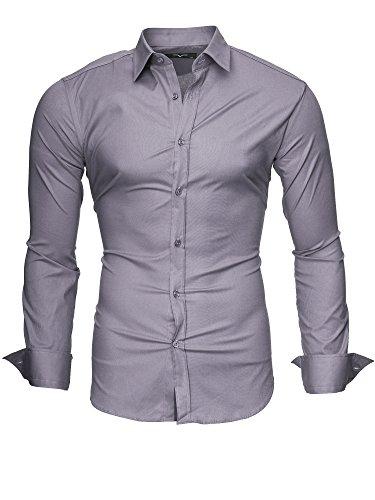 Stiro Originale Xl modello Uomo Light M Maniche Slim Kayhan 2xl L Fit Camicia New Uni Grey Xxl S Facile Lungo Cotone dYq5pB