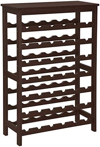 SONGMICS 42-Bottle Wine Rack Free Standing Floor