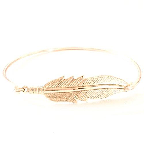 Feather Leaf Bangle Bracelet Freedom And Spiritual Symbolism