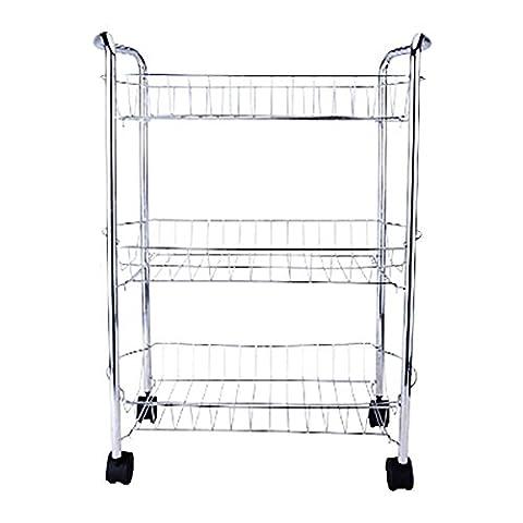 3-Tier Multi-Purpose Removable Kitchen Laundry Bathroom Utility Cart Storage Rack