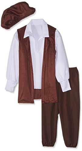 Renaissance Fantasy Costumes (RG Costumes Renaissance Boy Costume, Brown/White, Small)