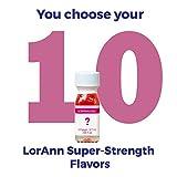 LorAnn Super Strength flavors 10 pack of 1 dram bottles (.0125 fl oz - 3.7ml) YOU CHOOSE THE FLAVORS Plus a 1 dram dropper