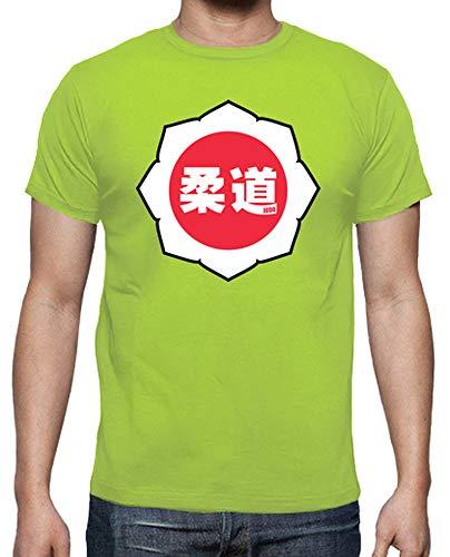 Bianco shirt Rosso Pistacchio Logo T Judo Tostadora Uomo Iq5O1