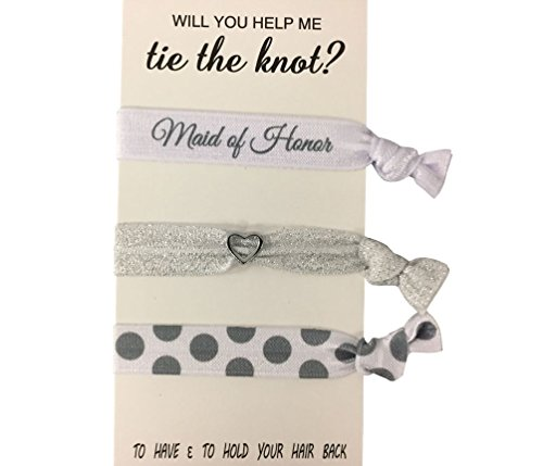 Bridesmaid Gifts, Bridesmaid Hair Ties, Bridesmaid Jewelry Accessory-Makes The Perfect Gift for Bridesmaids