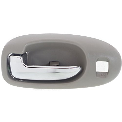 Interior Door Handle compatible with SEBRING 01-06 Front LH Inside Chrome Lever and Light Gray Housing Plastic Sedan