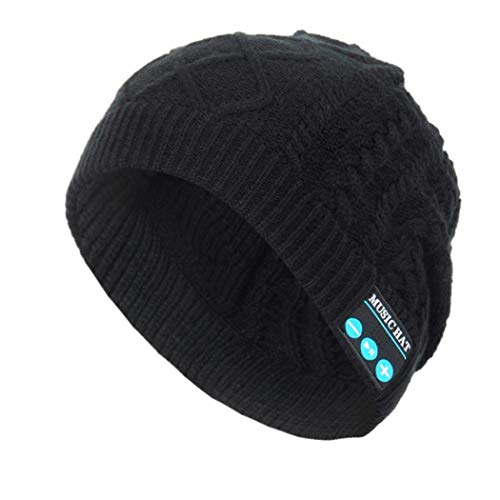 Miseku Warm Bluetooth Music Hat Knitted Hat with Bluetooth Headphone