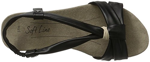 Softline 28160, Sandales Compensées Pour Femmes, Noir (noir 001), 40 Eu