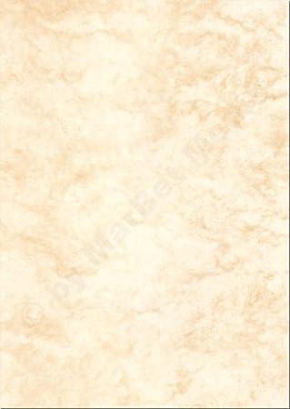 Mármol Papel, DIN A4, 170 g/m², 250 hojas, color beige: Amazon.es ...