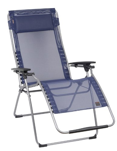 Lafuma Futura XL Zero Gravity Recliner - Grey Steel Frame with Iso Batyline® Fabric - Océan