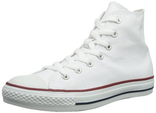 Converse All Star Hi Tops - Converse Unisex Chuck Taylor All Star Hi Top Optical White Sneaker - 7 B(M) US / 5 D(M) US
