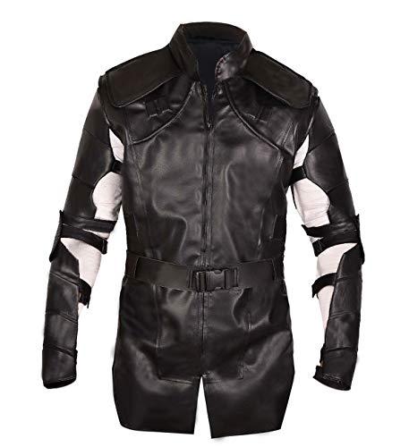 Mens Jeremy Renner Avengers Endgame Hawkeye Clint Barton Costume Cosplay PU Leather Jacket -