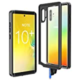 Justcool Galaxy Note 10+ Pro/Plus/5G Case, Rugged 360 Full-Body with Built-in Screen Protector,Fingerprint Unlock with Fingerprint,Heavy Duty Protection Shockproof Case for Samsung Galaxy Note 10 Plus
