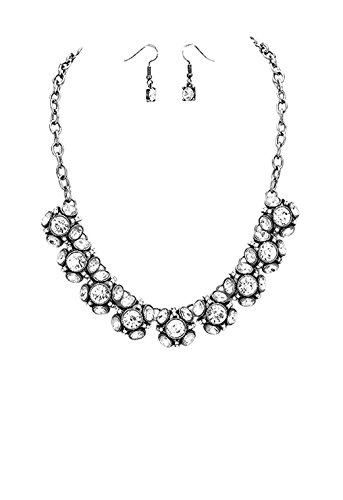 Rosemarie Collections Femme Strass Bubble Cluster Collier