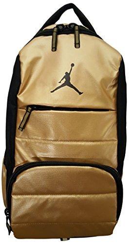 Nike Air Jordan Jumpman All World Backpack Sports Equipment Laptop Storage Bookbag Backpack Metallic Gold Coin 9A1640-Y25
