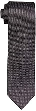 Calvin Klein Men's Silk Tie Black Geometric Print, Black, One size