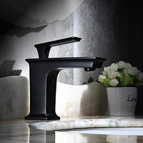 DXX-HR 洗面所やバスルームのシンクのシングル全銅盆地ブラックホットとコールドの下でカウンター盆地Aのための浴室タップ絶妙な盆地ミキサータップ