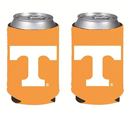 (NCAA College 2014 Team Logo Color Can Kaddy Holder Cooler 2-Pack (Tennessee Volunteers) )