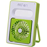 USB Mini adjustable Speeds Rechargeable Portable Desktop Fan Turbo Force Air Circulator Fan, Green