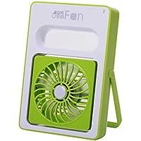 USB Mini adjustable Speeds Rechargeable Portable Desktop Fan Turbo Force Air Circulator Fan, Green