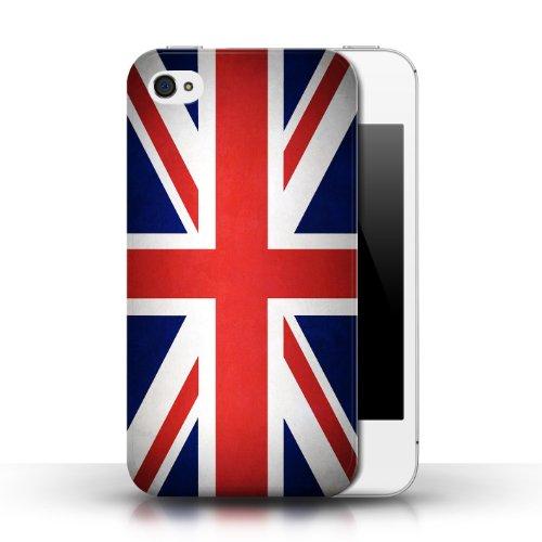 Etui / Coque pour Apple iPhone 4/4S / Royaume-Uni/Britannique conception / Collection de Drapeau