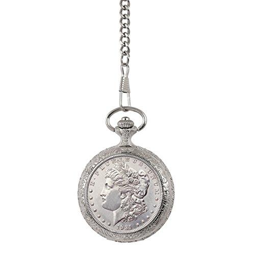 Brilliant Uncirculated Morgan Silver Dollar Pocket Watch