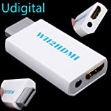 Udigital Wii to HDMI Converter Output Video Audio Adapter - Supports All Wii Display Modes to 720P / 1080P HDTV & Monitor